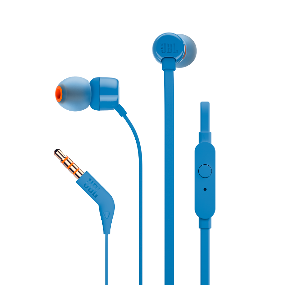 JBL T110 In Ear Headphones Blue