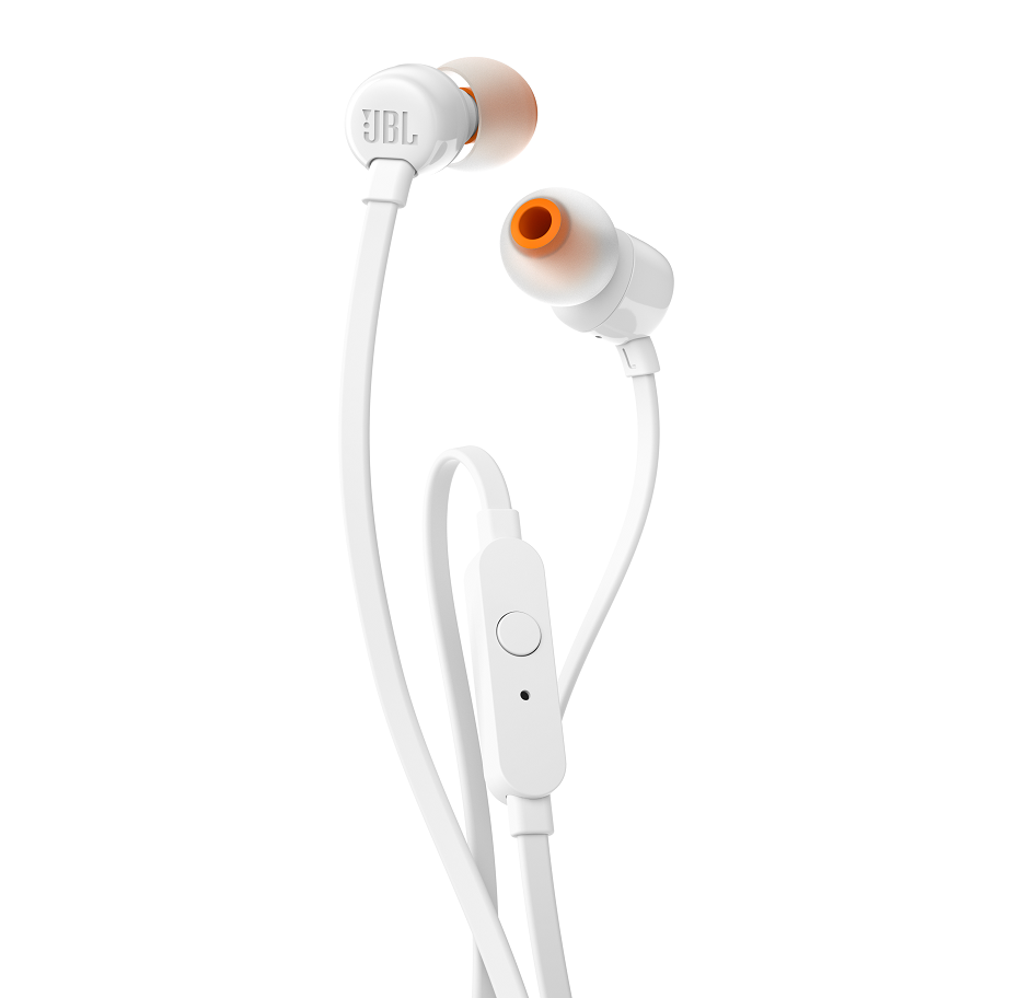 JBL T110 In Ear Headphones White